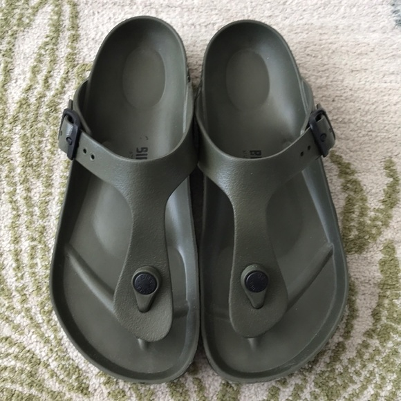 4620bea15407 Birkenstock Shoes - Birkenstock Gizeh EVA Sandals- Khaki